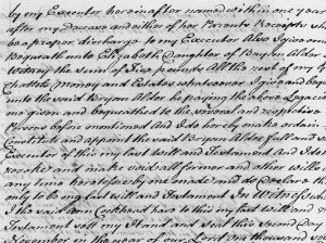 Samuel Borton's Last Will and Testament 1769