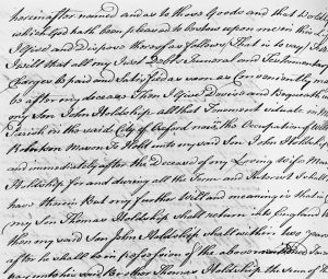 The Will of William Holdship